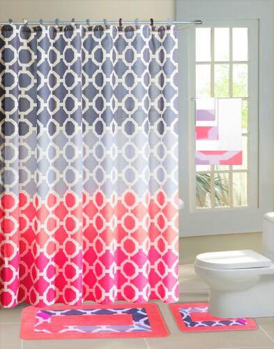 new country style bathroom shower curtain matching bath mat countour rug set shower curtain hooks home garden