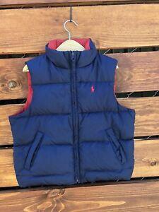 Polo Ralph Lauren Boys Toddler Down Puffer Vest Jacket 3T Red/Navy Reversible   eBay