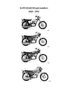 Kawasaki parts manual book 1969, 1970, 1971, 1972, 1973