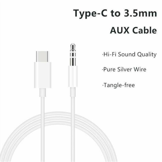 Type C To 3.5mm Audio Aux Headphone USB-C Jack Cable