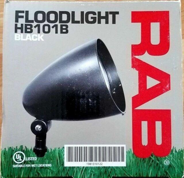 rab 150w landscape flood light fixture par38 floodlight hb101b black