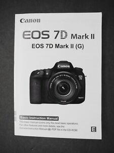 Canon Eos 7d Mark Ii : canon, Original, Canon, Cámara, Manual, Instrucciones/Manual/Guía, Usuario