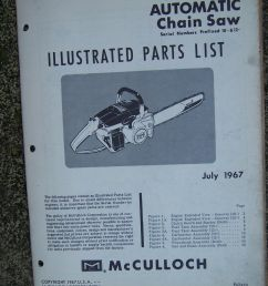 1967 mcculloch mac 2 10 automatic chain saw illustrated parts list power tool v [ 1200 x 1600 Pixel ]