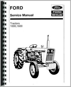 Ford 1000 1600 Tractor Service Repair Manual Diesel