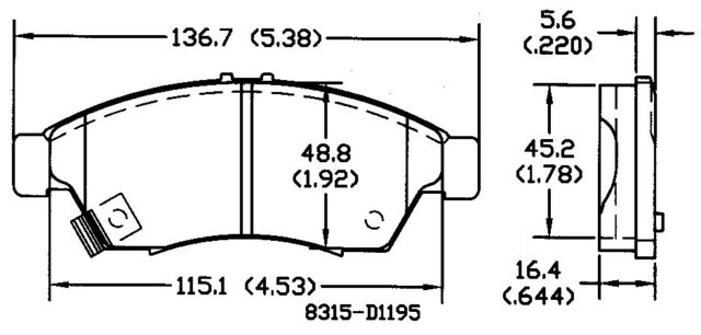 Disc Brake Pad Set Front OMNIPARTS 13050949 fits 2006