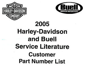 2005 HARLEY-DAVIDSON & BUELL LITERATURE LIST for SERVICE