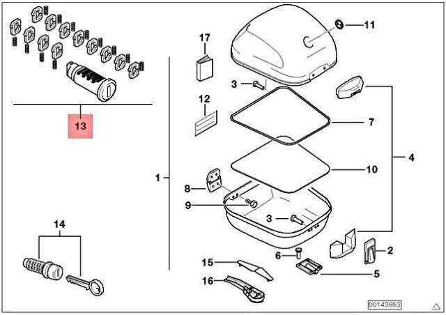Genuine BMW K14 R13 0184 0187 0182 Repair Kit For Lock
