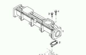 0429 7658 Charge air pipe-Intake Manifold 2012 Deutz
