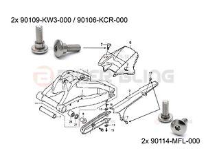 Honda CBR1000RR 2008-2009 rear mudguard fender & chain