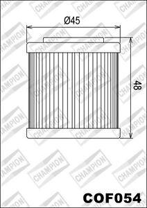 COF054 Oil Filter CHAMPION Husqvarna TE610 & Enduro 610