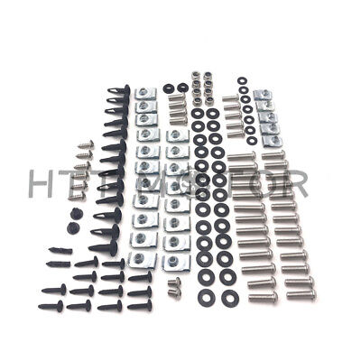 Complete Silver Fairing Bolt Kit Body Screws for Yamaha