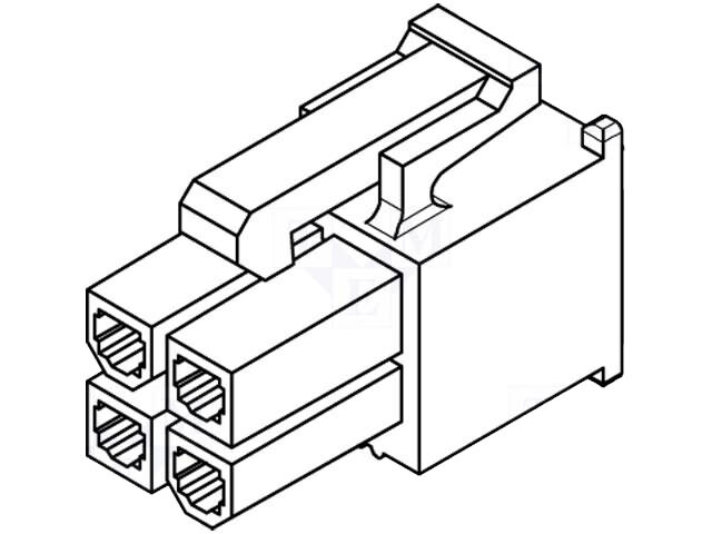 Connector / Adaptor: Molex Female P/N: 5557-04R Mini-Fit