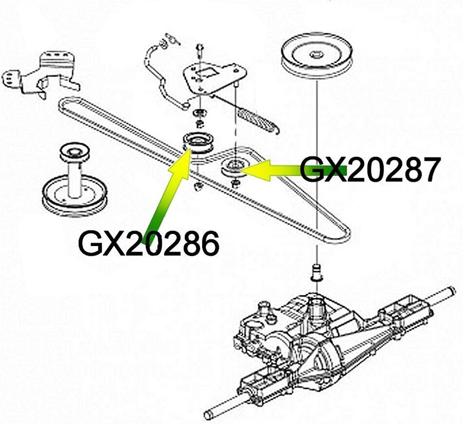FITS DEERE DRIVE BELT IDLERS GX20286 GX20287 L110 L120