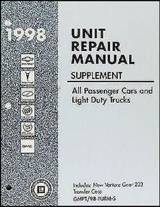 1998 4x4 Transfer Case Overhaul Manual S10 Pickup Blazer
