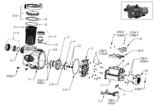 Jandy E-Pump Series Pool Pump Backplate O'ring R0446300