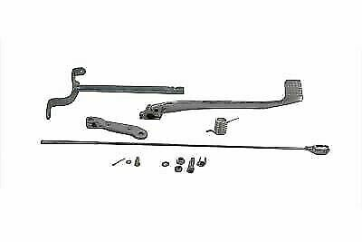 Brake Pedal Linkage Kit Rear Chrome for Harley Davidson by