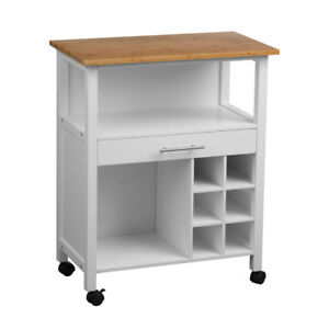 kitchen trolley cart delta single handle faucet installation white wooden home drawer unit storage image is loading