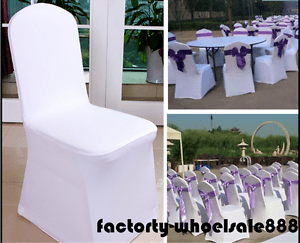 chair covers wedding ebay swivel living room wholesale polyester banquet reception party image is loading