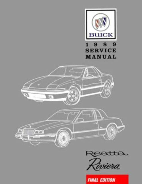 1989 Buick Reatta Riveria Shop Service Repair Book Manual