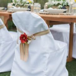 Chair Covers Wedding Ebay Ikea Table Chairs Folding Polyester Party Shower Or Banquet 3 Image Is Loading