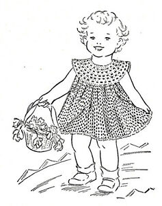 Vintage Crochet PATTERN to make Dress Baby Yoke Toddler