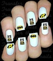 batman robin logo minion nail
