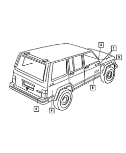 OEM NEW Mopar 1999-2001 Jeep Cherokee 4 Cyl 2.5L 6 Cyl 4