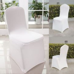 Chair Covers For Folding Chairs Wedding Dining Room Spotlight White Spandex Lycra Party Event Banquet Image Is Loading