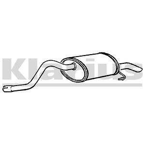 Replacement Exhaust Rear Back Box Silencer 2 Year Warranty