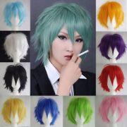male mens short anime full wig