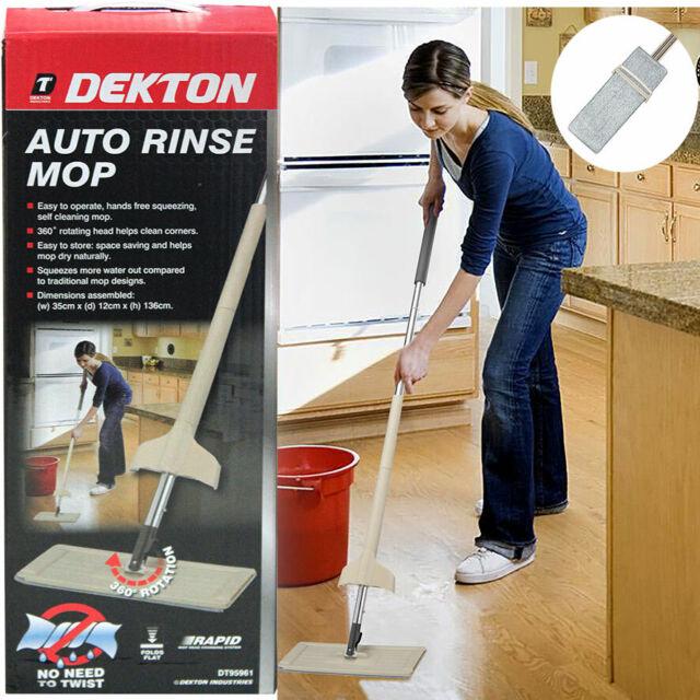 dekton self cleaning floor mop auto rinse laminate wood tile steam 360
