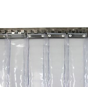 PVC Strip Curtain 1000x2000mm H 150x2mm Strips Plastic Door Curtain Shop Kitchen  eBay