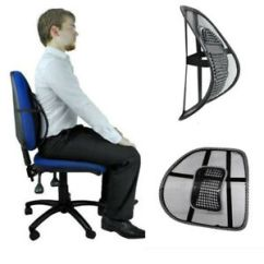 Posture Corrector For Office Chair Pier 1 Slipcovers Mesh Lumbar Lower Back Support Cushion Seat Car Image Is Loading