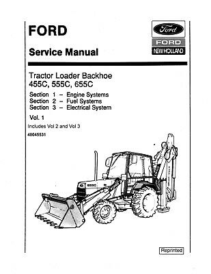 FORD 455C 555C 655C Tractor Loader Backhoe Service Repair