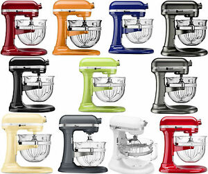 kitchen aid colors 4 stool island new kitchenaid stand mixer kf26m2x 6 qt pro 600 with glass bowl 11 image is loading