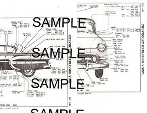 1956 CHEVROLET BEL AIR 210 56 BODY & PANEL DIAGRAMS PARTS
