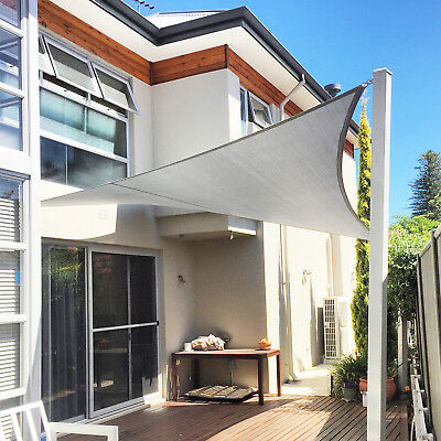 gray triangle sun shade sail screen patio yard pool garden cover canopy mesh ebay