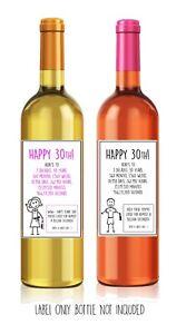 Funny Alternative Sarcastic Wine Label 30th Birthday Present Gift Him Her Ebay