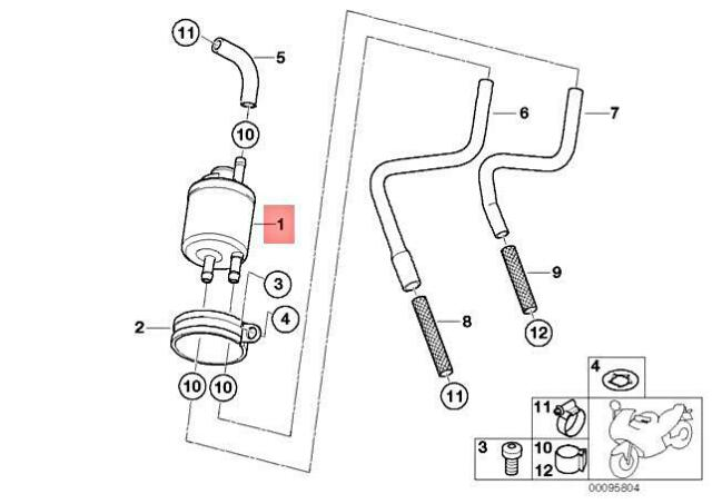 06 BMW F650 GS Fuel Filter Pressure Regulator 13537669776