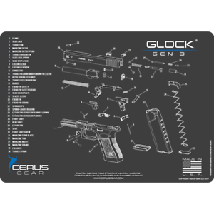 glock 22 exploded diagram jeep wrangler jk stereo wiring for armorers gun cleaning bench mat view schematic image is loading