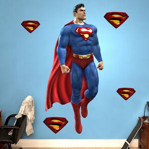 SUPERMAN WALL STICKER Decor Decal Vinyl Room Art Comics Decals 3D Superhero
