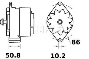 MAHLE Alternator For INTERNATIONAL HARV. Maxxum 5110 A