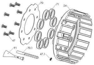 New Rekluse Clutch Basket GasGas EC 450F Yamaha YZF/YFZ/WR