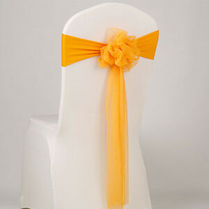 diy organza chair covers dining cushions with ties nz 10x sash cloth cover wedding party event home image is loading