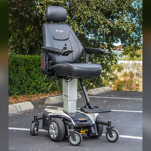 jazzy power chair used airbag gif pride air elevating seat electric wheelchair image is loading