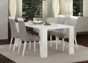 white 6 chair dining table 1 2 glider elegance high gloss modern italian chairs image is loading