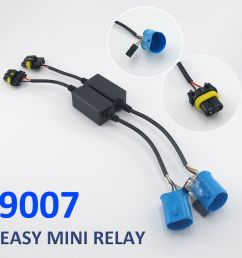 easy relay harness for h4 h13 9007 hi lo bi xenon hid bulbs wiring controller [ 1000 x 1000 Pixel ]