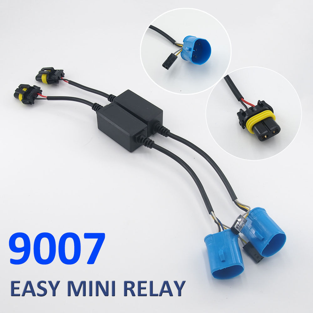 medium resolution of easy relay harness for h4 h13 9007 hi lo bi xenon hid bulbs wiring controller