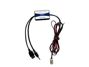 Car USB 3.5mm Aux Jack Adapter Cable Radio Interface For