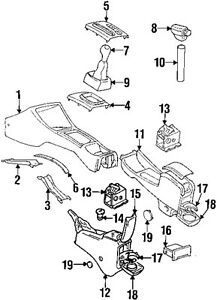 VW VOLKSWAGEN OEM 97-98 Cabrio Console-Shift Knob